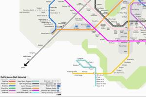 Weisungen sollen den Leser genauso führen wie Leitsysteme, hier als Beispiel Delhi Metro Rail Network